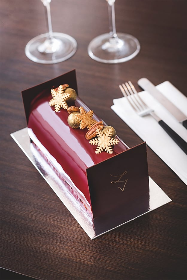 christmasbûche, a cak for christmas with special decorations
