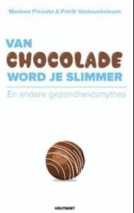 book; white cover over chocolate