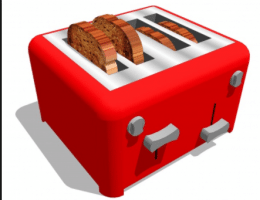 bevroren brood in de toaster